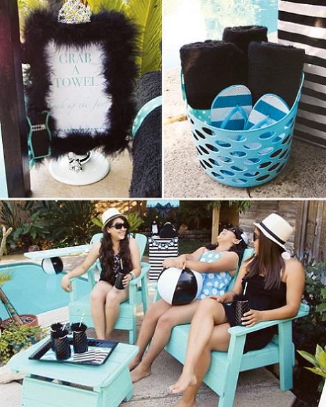 ideas fiesta chicas tiffany piscina banador