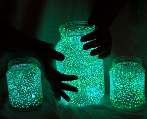 tarro cristal luminoso