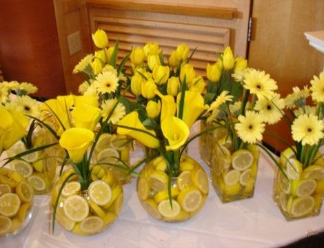 centros de mesa fáciles decorar fruta