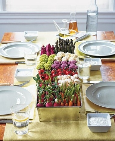 centros de mesa fáciles decorar vegetales
