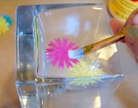 decorar vasos velas pegar