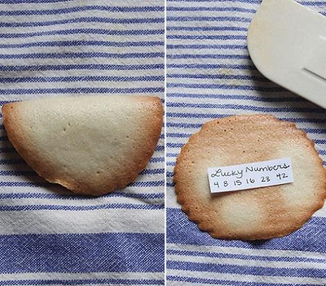 como hacer galletas suerte mensaje