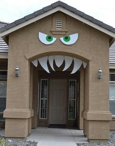 decoración de una casa de halloween