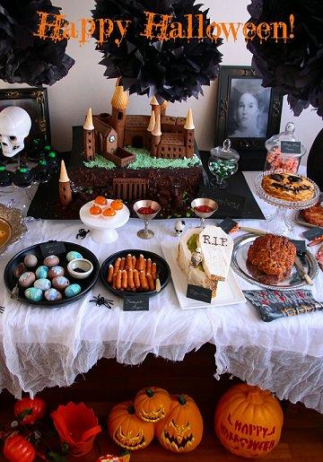 mesa de halloween decorada 2013