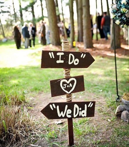 carteles caseros para bodas