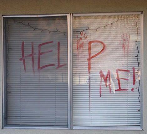 ventana terror halloween