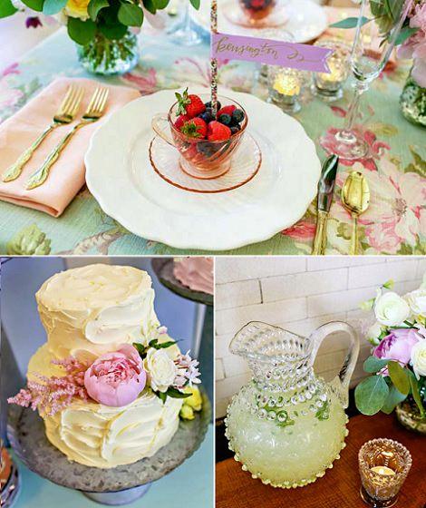 comida fresca flores y frutas para fiesta