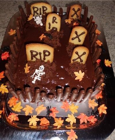 tarta de chocolate y galletas para halloween