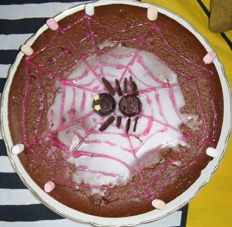 tarta de chocolate para halloween