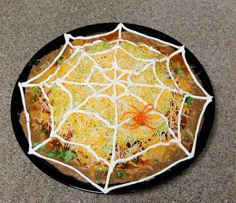 pizza decorada halloween