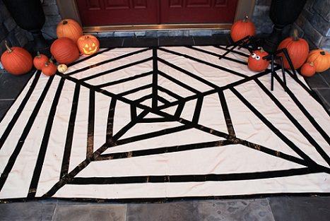 alfombra de tela de araña