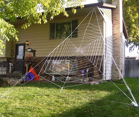 tela de araña casera