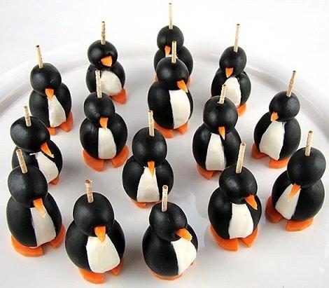 aperitivos navidad faciles pinguino