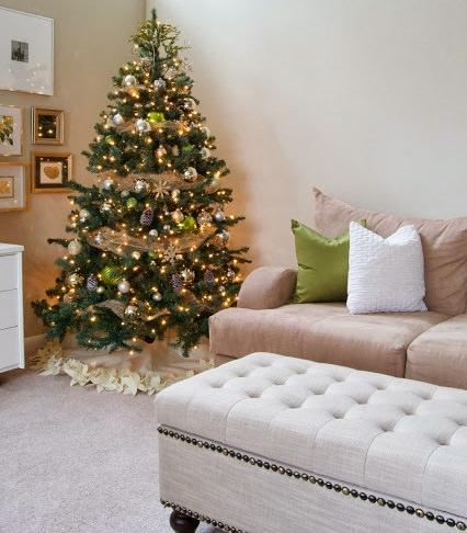 alfombra de navidad para el árbol