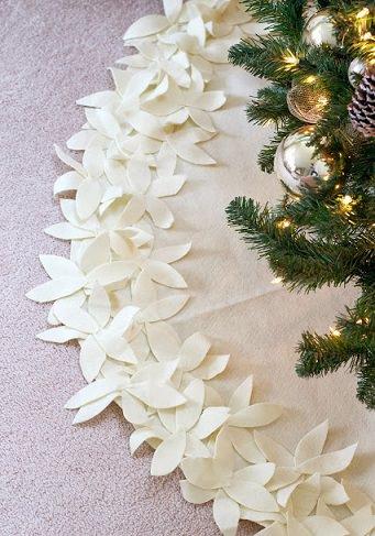 alfombra para el árbol de Navidad